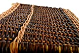 Holzkorb aus ungeschälter Vollweide  Jutefutter 70x40x30 - 7