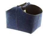 Orskov Holzkorb Wildleder Blau
