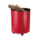Schössmetall Holzkorb RUMBA Leder rot