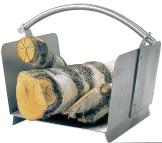 Lienbacher Holzkorb Edelstahl matt gebürstet