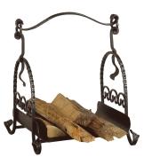 Heibi Holzkorb Schmiedeeisen antik schwarz