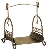 Heibi Holzkorb Schmiedeeisen bronze