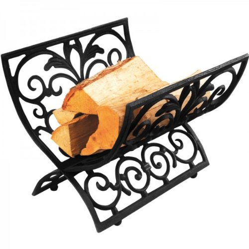 esschert design gusseierner korb f r kaminholz und feuerholz holzkorb. Black Bedroom Furniture Sets. Home Design Ideas